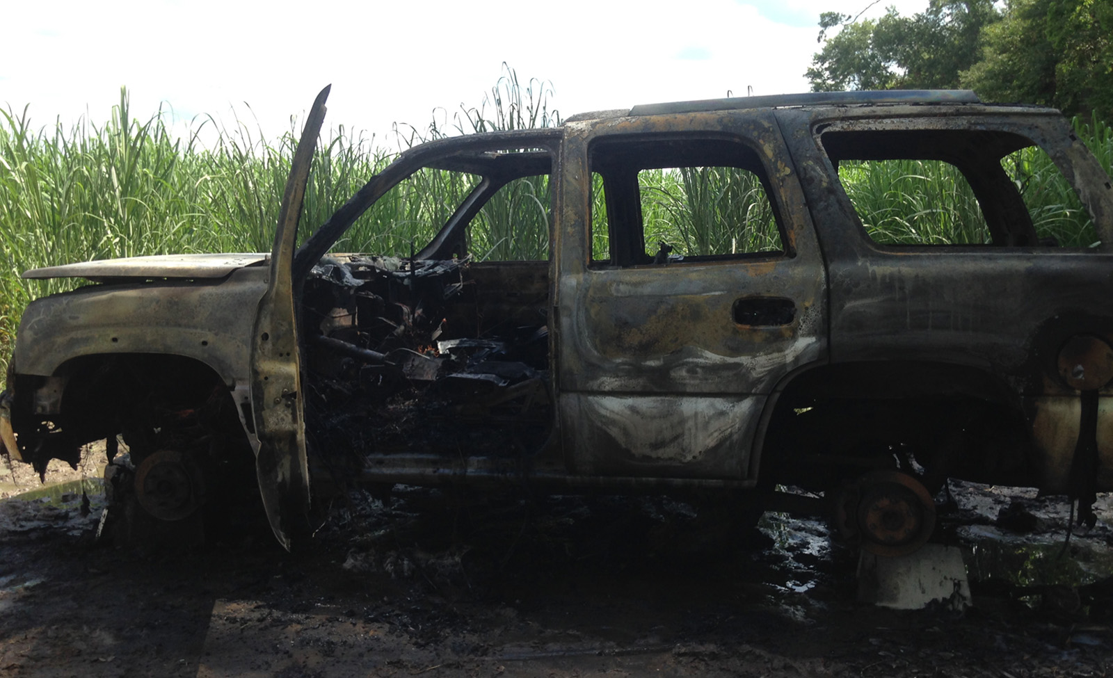 Burned SUV found in Thibodaux