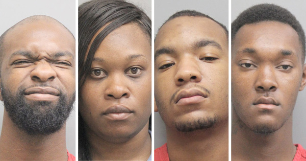 Four Charged for Conspiring to Bring Drugs into Lafourche Jail