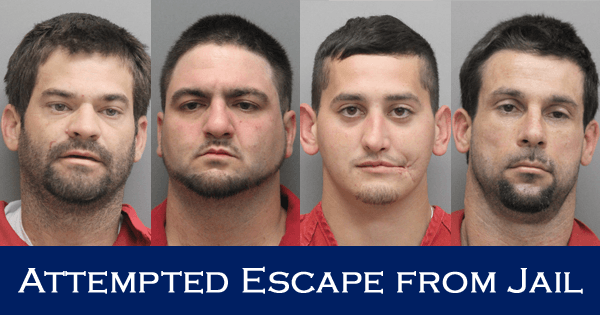 Four Inmates Charged with Attempted Escape from Jail