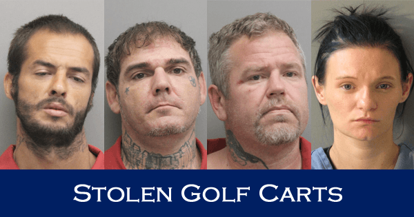 Four Charged in String of Golf Cart Thefts in South Lafourche Area
