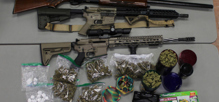Cut Off Man Arrested after Agents Find Variety of Narcotics and Firearms