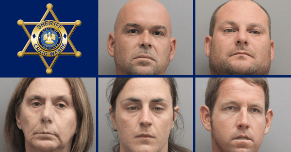 Five Arrested after Work Program Inmate Found Working for Family Business