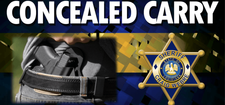Concealed Handgun Course Slated for Saturday, January 6