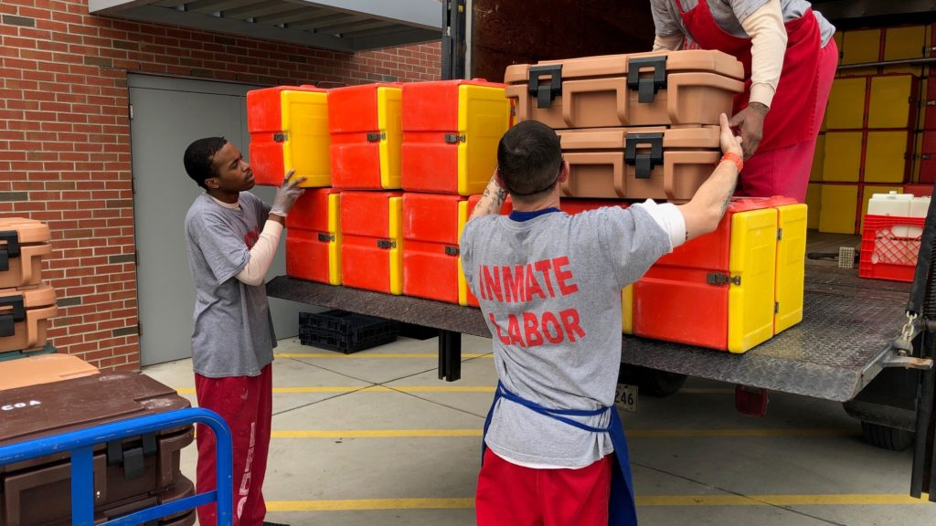Inmates Loading Meals