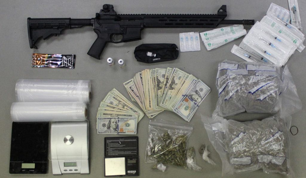 Items seized during the arrest of Chad Fletcher