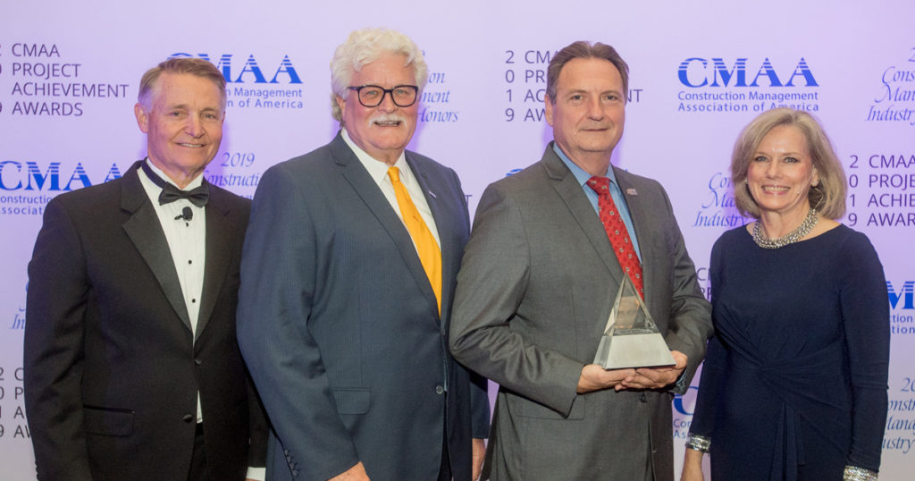 Pictured from left to right: Tim Murchison (CMAA Chair), Bill Lacher (Project Manager, Best Management Practices Consulting, LLC), Sheriff Craig Webre, and Andrea Rutledge (CMAA Executive Director)
