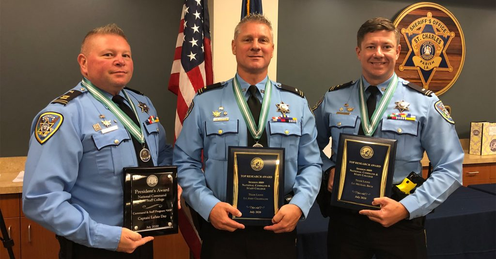 From L to R: Capt. Lafate Day, Lt. John Champagne and Lt. Michael Beck Jr.